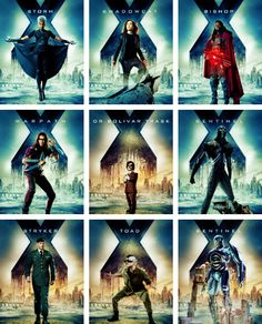 Character Posters for X-Men: Days of Future Past