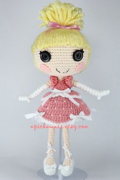 PATTERN: Cinder Cinderella Crochet Amigurumi Doll - epickawaii