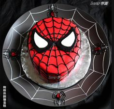 Spiderman cake - For all your cake decorating supplies, please visit craft company.co.uk