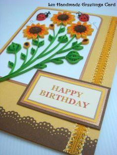 Lin Handmade Greetings Card: Quilling