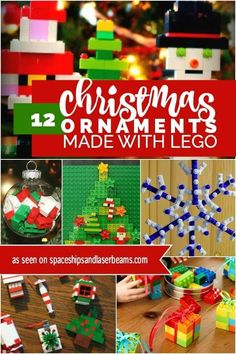 12 Christmas Ornaments Made with LEGO | Spaceships and Laser Beams