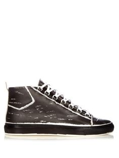 BALENCIAGA Arena High-Top Leather Trainers. #balenciaga #shoes #sneakers