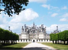 Chambord Castle, Loire Valley, France. This was my favorite castle in France