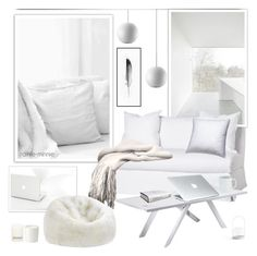 """Modern White"" by rainie-minnie ❤ liked on Polyvore featuring interior, interiors, interior design, home, home decor, interior decorating, Menu, Vanguard, Schumacher and Comme des Garçons"