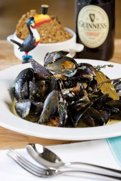 Mussels in Guinness
