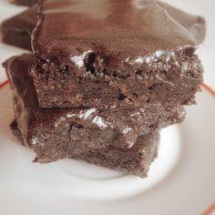 Glazed Chewy Brownies