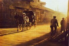 "As you make your #Holiday travel plans, enjoy Clark Huling's ""Carriage Taxi - Konya."" #Art"