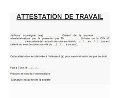 telecharger attestation de travail word, exemple attestation de travail pdf, attestation de travail pdf algerie, model attestation de travail word gratuit, attestation de travail algerie, attestation de salaire tunisie Word Doc, Word Free, French Language, Certificate, How To Remove, How To Plan, Words, Recherche Google, Fashion Ideas