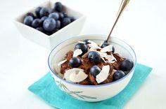 Double dark chocolate coconut milk pudding // TheCuriousCoconut.com #paleo