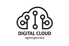 Digital Cloud Logo by tkent on @creativemarket