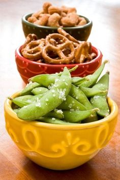 eda-zen in pods topped with sea salt. A healthy addition to your other #snack foods!