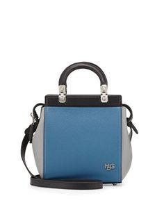 HDG+Top-Handle+Mini+Goat+Leather+Crossbody+Bag,+Black/Blue/Gray+by+Givenchy+at+Neiman+Marcus+Last+Call.