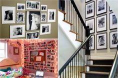 32 idées pour exposer esthétiquement des photographies sur vos murs