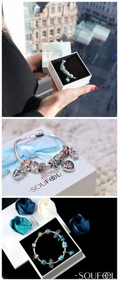 Love is like a butterfly, it goes where it pleases and it pleases where it goes. Soufeel meaningful charms bracelet, perfect for every romantic moment.