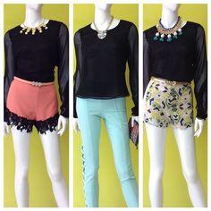 Así combinamos esta blusa negra con 3 diferentes opciones de bottoms #thumbsup #combinandoando #amolapeli