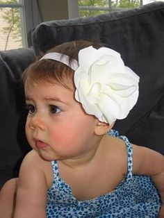 Making a baby flower headband - so much easier than how I've been doing things!