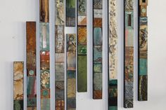SOLD Cindy Layaway Return to the Sea Totems Collages Large Metal-Wood Wall Sculptures Sea Shells Seaglass Driftwood Beach Cabin Boho