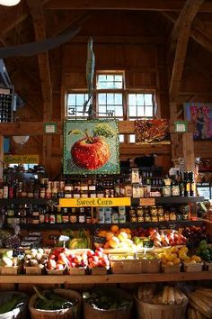 Sweet Berry Farm Market, Middletown, RI--beautiful fruits, veggies & a market full of local RI products