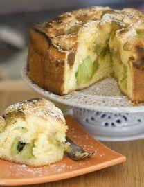 Moelleux à la rhubarbe, recette de dessert à la rhubarbe - Recettes à emporter, déjeuner au bureau, pique-nique