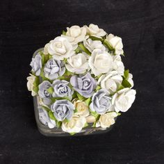 Prima Flowers Mini Sachet Frost Paper Roses with Stems Item 565763 mulberry paper roses flowers paper flowers craft scrapbooking Paper Flowers Craft, Paper Roses, Flower Crafts, Mixed Media Cards, Product Offering, Frost, Paper Art, Hair Accessories, Mini