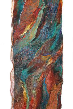 Nuno Felted Textured Scarf Wrap by FeltedPleasure, via Flickr