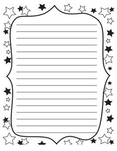 Lined Writing Papers with Borders Letter Writing Template, Writing Letters, Writing Papers, Free Printable Stationery, Printable Paper, Printable Border, Lined Writing Paper, Bullet Journal Weekly Layout, Borders For Paper