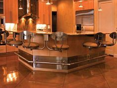 Kitchen snack bar suspended seating, stainless steel, alpha chair, inverted frame