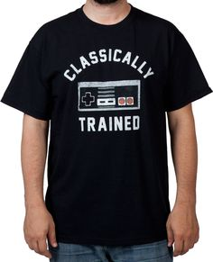 Classically Trained NES Controller Shirt: Nintendo Mens T-shirt