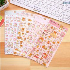 4 pack/lot Cartoon Rilakkuma & Friends series multifunctional washi paper…