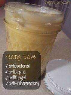 This healing salve is antibacterial, antiseptic, antifungal, and anti-inflammatory. And soothing, to boot!   Virginia George