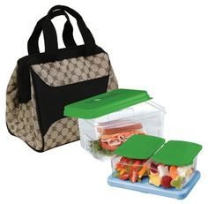 Fit & Fresh Downtown Insulated Designer Lunch Kit, Cocoa, 9x6x8 Inches by Fit & Fresh. $22.99. Convenient front pocket. Comfortable straps with zippered closure. 9x6x8 inches. Includes removable, reuasable ice pack, lunch pod container and a smart portion 1 cup container. Pack a healthy lunch in a reusable lunch bag to maintain healthy food choices, save money, and help the environment. fit & fresh versatile insulated lunch bags match any personality. designed with today