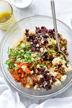 This simple shallot vinaigrette over couscous is delicious served either warm or at room temperature made straight from simple pantry staples.