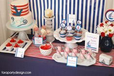 The dessert table is incredible with Swedish fish candy in a decorative bowl and cake pops decorated and centered in a bowl of red gumdrops, all perfect to the theme of this party. Description from babyshowerideas4u.com. I searched for this on bing.com/images