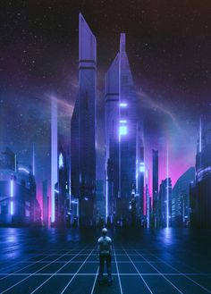 Fragments of a Hologram Dystopia Cyberpunk City, Cyberpunk Kunst, Cyberpunk Aesthetic, Futuristic City, Futuristic Architecture, Futuristic Design, Neon City, Sci Fi Environment, Retro Waves