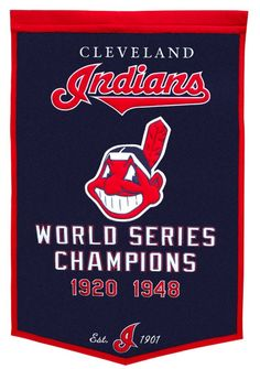Cleveland Indians Banner 24x36 Wool Dynasty