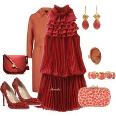 """red"" by gaitriesharda on Polyvore"