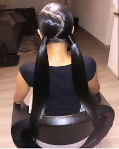 Magic Love Hair Human Hair wigs Silk straight for black women Free Hair Ponytail Styles, Weave Ponytail Hairstyles, Baddie Hairstyles, Sleek Ponytail, Black Girls Hairstyles, Pretty Hairstyles, Straight Hairstyles, Curly Hair Styles, Teen Hairstyles
