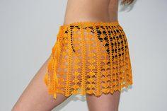 Beach skirt Crochet lace mini skirt Yellow pareo Cotton crochet skirt Bikini skirt Boho skirt for w Bikinis Crochet, Crochet Skirts, Crochet Clothes, Lace Mini Skirts, Boho Skirts, Frill Skirts, Cotton Crochet, Crochet Lace, Black Crochet Dress