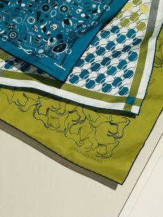 Carré 55 cm, carré 70 cm, carré 100 cm. Hermès Spring-Summer 2013.