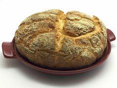 Pagnotta senza glutine  http://stellasenzaglutine.com/2015/02/16/pagnotta-con-farine-dietoterapeutiche-senza-glutine-e-il-cuoci-pane-emile-henry/