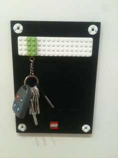 Your keychain has a lego on it.. snap it into place and no more lost keys!! So clever & fun! idea??