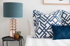 Pre-sale Makeover by Mi Designer Styling. Bedroom Apartment, Home, Two Bedroom Apartments, Makeover, Master Bedroom, Pillows, Two Bedroom, Renovations, Furnishings
