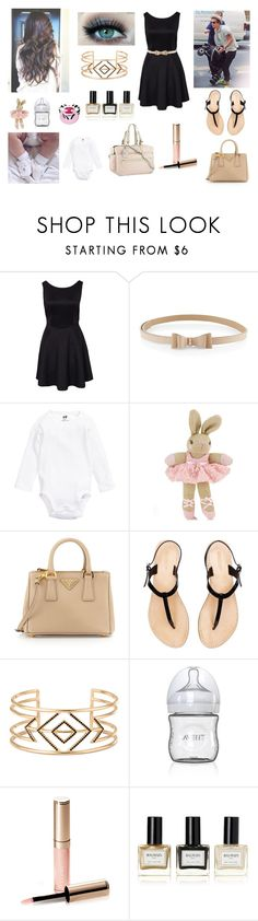 """Family exit with Darcy; Harry and Me"" by louisericoul on Polyvore featuring mode, H&M, Monsoon, Prada, Louis Vuitton, Stella & Dot, By Terry et Balmain"
