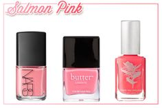 Salmon pink has the softness of light pink, blended with the boldness of a bright, the combo is great for summer!