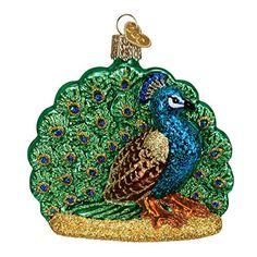 Old World Christmas Proud Peacock Glass Blown Ornament * Check out the image by visiting the link. (This is an affiliate link) #Ornaments