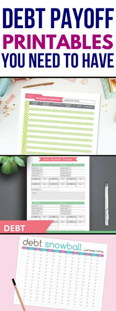 These debt payoff printables are THE BEST! I'm so glad I found these debt payoff worksheets for my planner to help me with the debt snowball strategy and track my debt this year! Definitely pinning this for later! #money