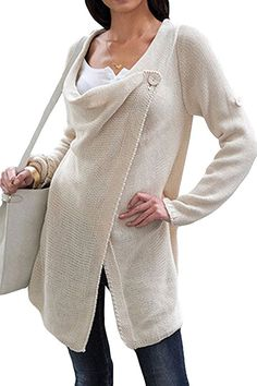 LOVE it for spring Poncho Tops, Poncho Sweater, Wrap Sweater, Top Coat, Grey, Long Sleeve, Sweaters, Apple, Spring