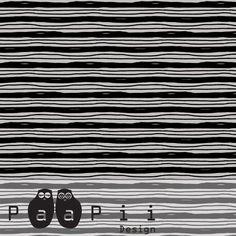 Baumwolljersey - Siiri Stripes - gray - Paapii Design