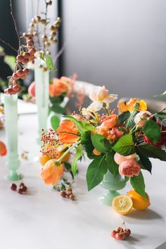 Photography : Ruth Eileen Photography | Floral Design : Winston Flowers Read More on SMP: http://www.stylemepretty.com/little-black-book-blog/2015/11/05/fall-centerpiece-breakdown/