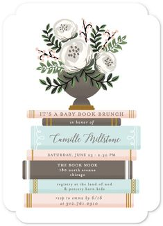 baby shower invitations - Storybook Stack by Lehan Veenker
